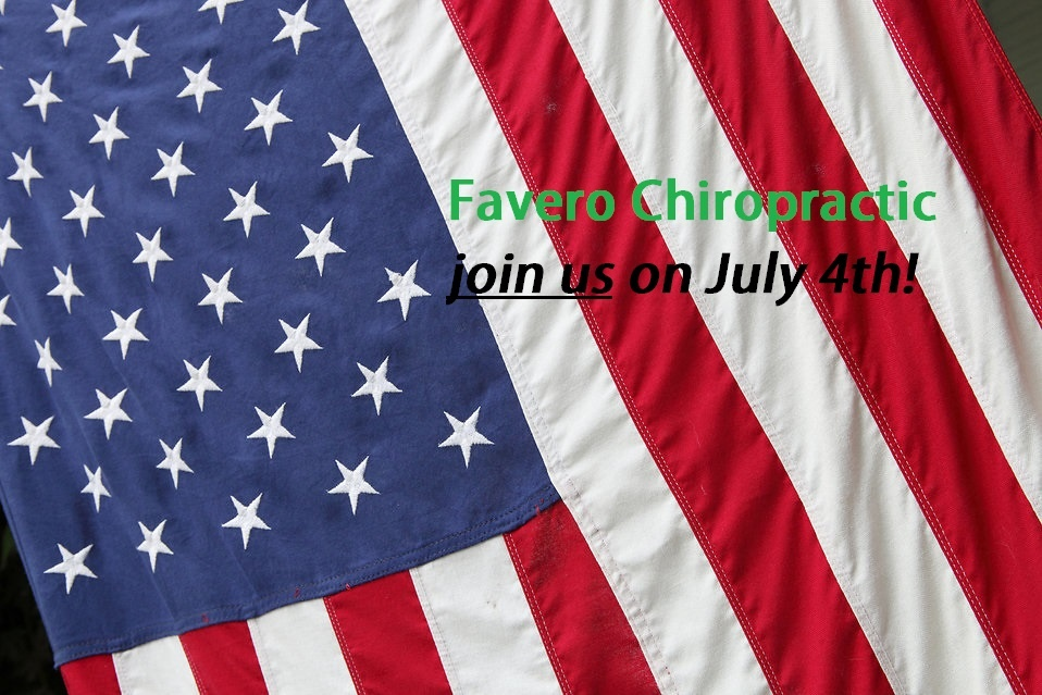 Chiropractic special offer on July 4th, North Ogden