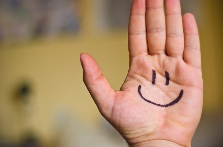 smiling hand, relief from wrist pain