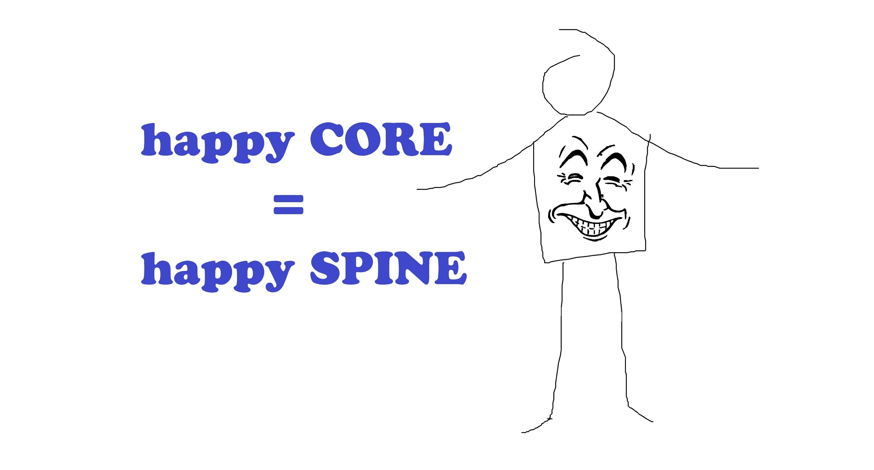 happy core happy spine, chiropractic help for posture